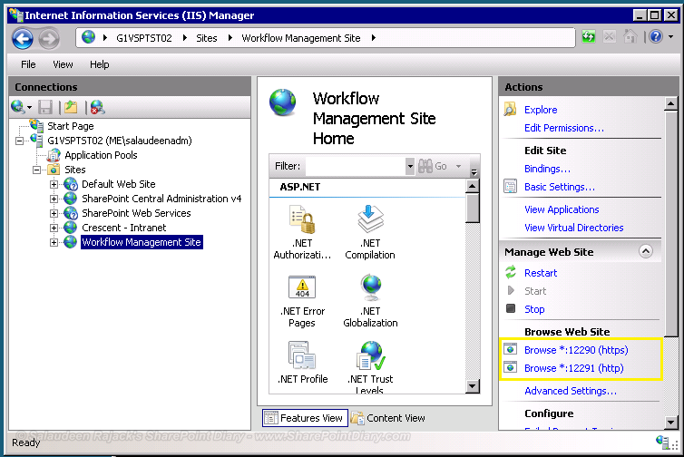sharepoint 2013 workflow manager port