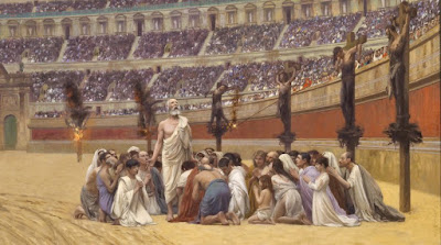 Jean-Léon_Gérôme_-_The_Christian_Martyrs'_Last_Prayer_-_Walters_37113_détail_2
