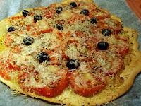pizza vegetal casera