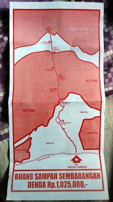 Peta Pendakian Gunung Kembang