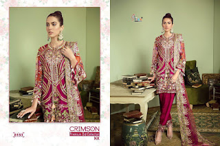 Shree fab Crimson Premium Eid Nx Pakistani Suits wholesaler