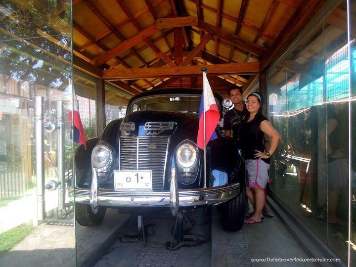 The presidential car of Manuel L. Quezon in Baler