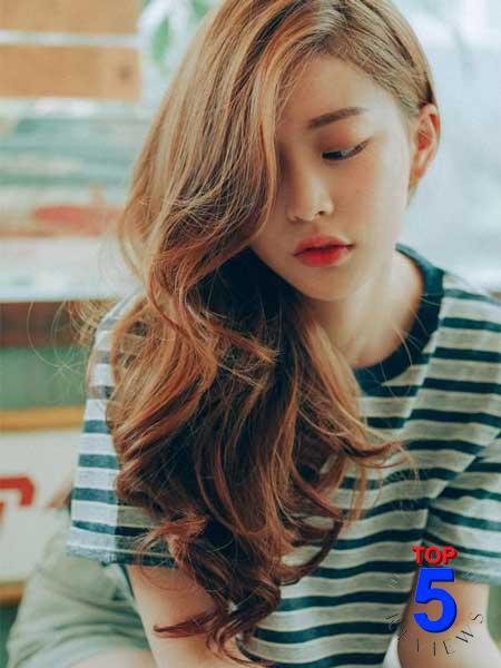 Kiểu Tóc nữ đẹp mái lệch