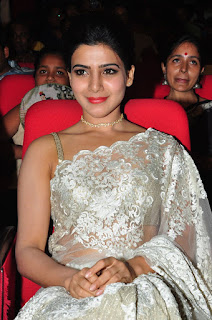 Samantha Stills in Designer Saree at Surya 24 Movie Audio Launch ~ Bollywood and South Indian Cinema Actress Exclusive Picture Galleries