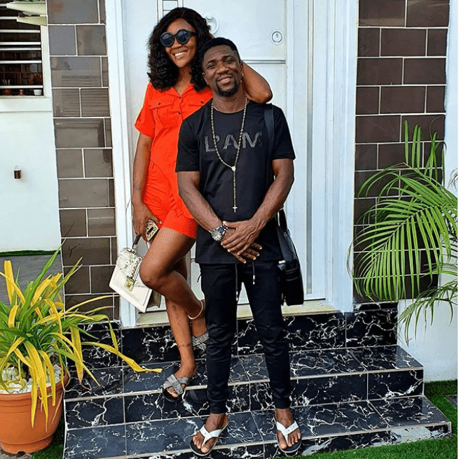 """""""You have stood by me when the only thing I had was faith, talent and hope"""" – Comedian Ogusbaba says as he gifts his wife a car"""