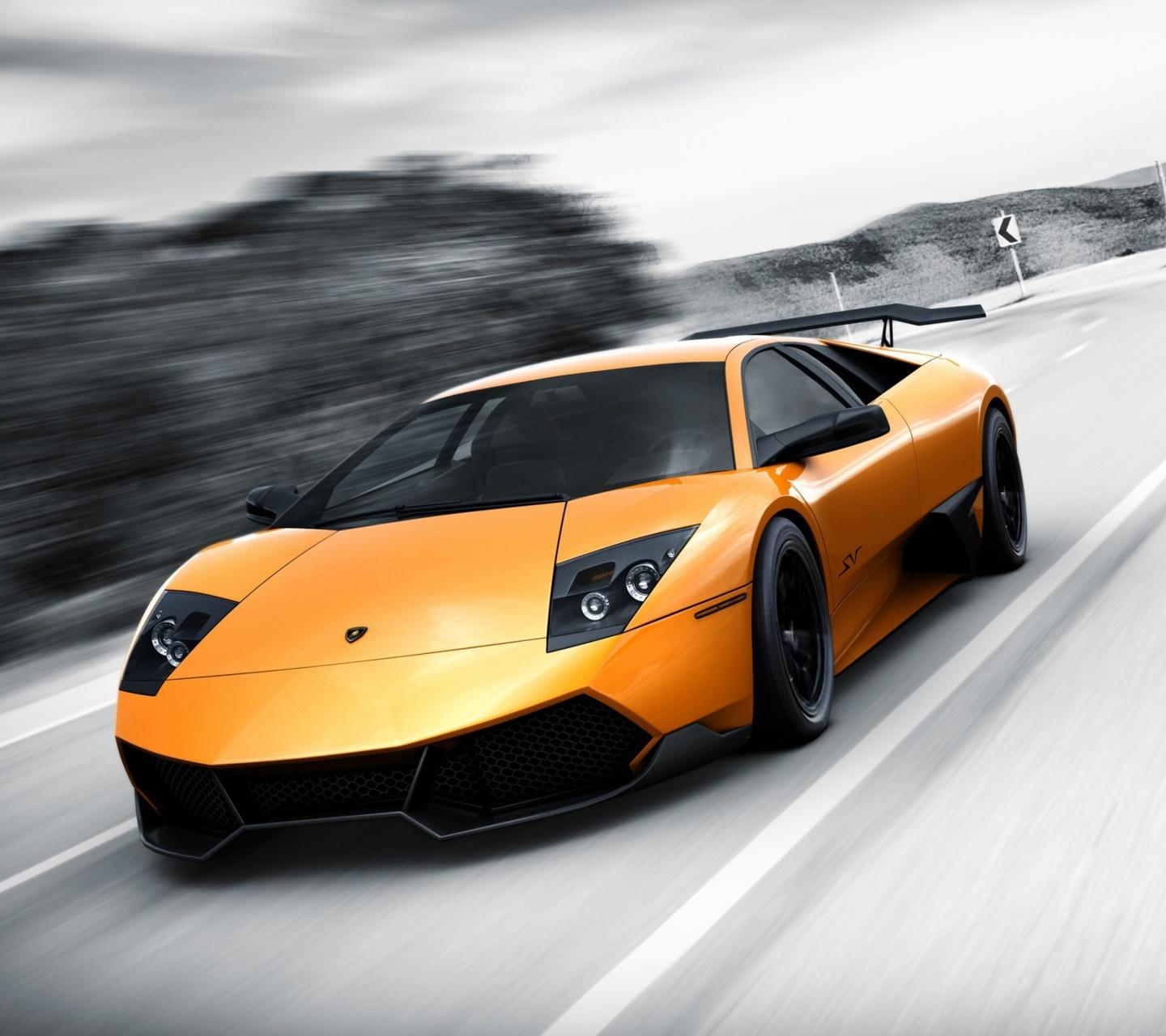 Lamborghini Murcielago Orange Sport Car PC Wallpaper HD Free