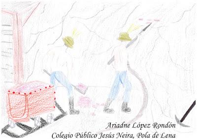 Dibujo la Mina La Soterraña de Ariadne López Rondón