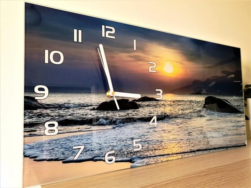 Panel ścienny, ozdoba na ścianę, zegar