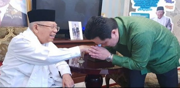 Erick Thohir Keliru, Kiyai Ma'ruf Semakin Down