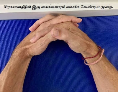Headstand-hand positions