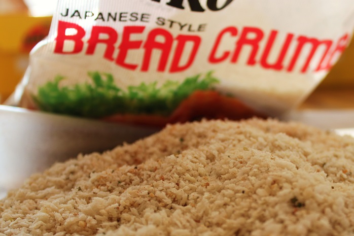 Japanese panko bread crumbs in a bowl