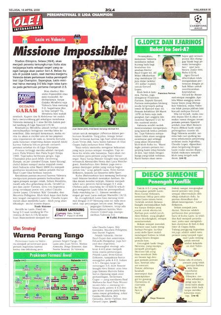 LAZIO VS VALENCIA MISSIONE IMPOSSIBILE