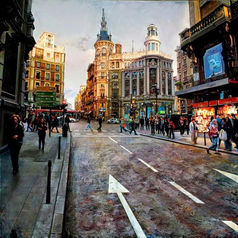 Cuadros, pinturas, arte: Realidad Fantástica en Paisajes Urbanos ...