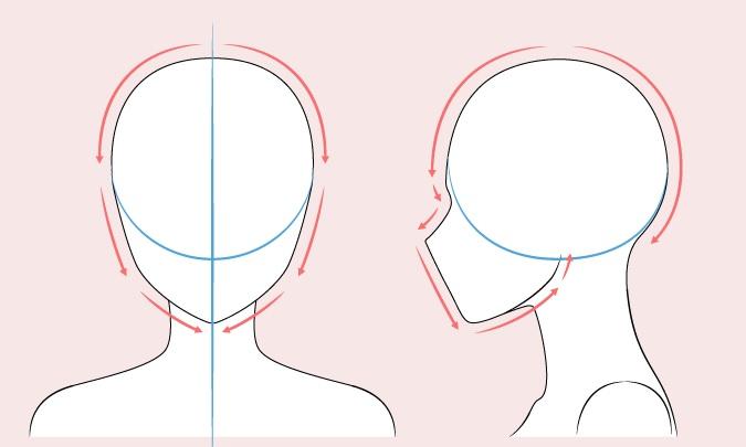 Gambar kepala wanita anime