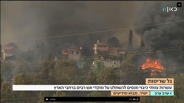 Israel Dilanda Kebakaran Hebat, Netanyahu Minta Bantuan Internasional