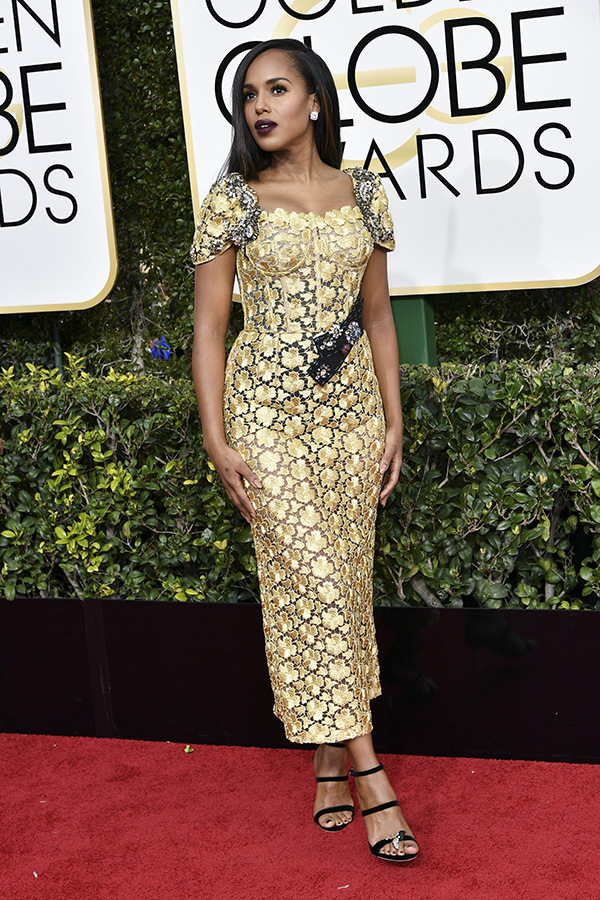 kerry washington golden globes 2017