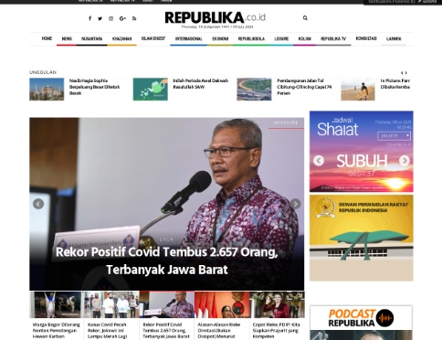 Review tentang Website Berita Republika.co.id