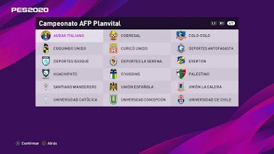 PES 2020 PS4 Option File Campeonato AFP PlanVital by EditemosPES