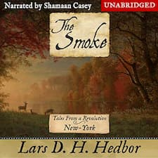 The Smoke: New York audiobook cover. An autumnal forest scene.