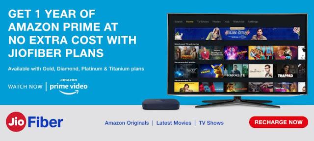 Reliance Jio Offers 1 Year Amazon Prime Membership Free