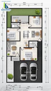 Floor Plan Tipe 80 Rumah Diskon 100 Juta Hanya Untuk 3 Unit Pertama Di Cluster Sayana
