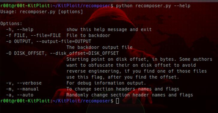 Re-composer : Randomly Changes Win32/64 PE Files For 'Safer' Uploading To Malware & Sandbox Sites