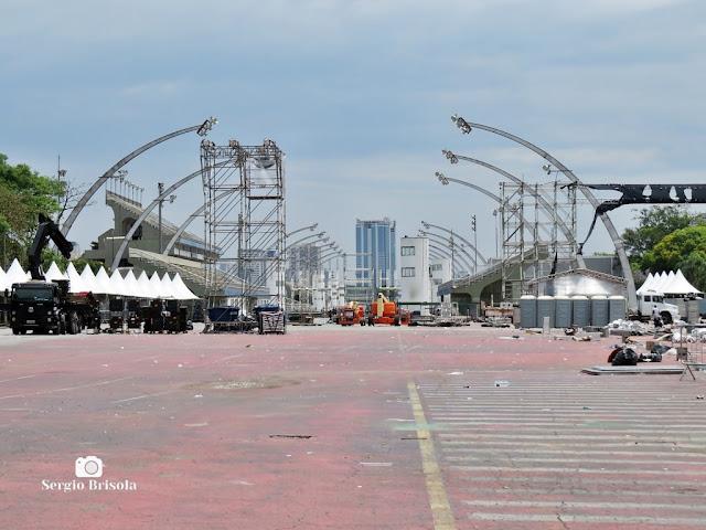 Vista ampla do Sambódromo do Anhembi - Santana - São Paulo