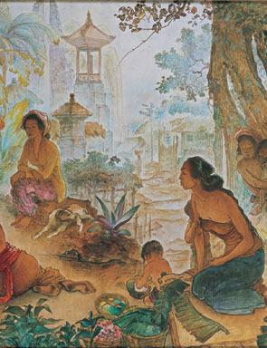 lukisan karya lee man fong bali life