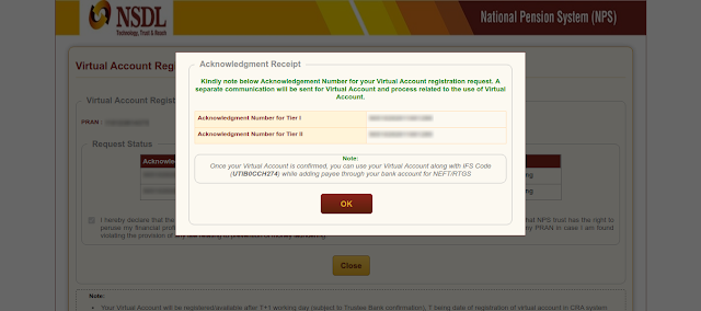 Step 2 of virtual account creation