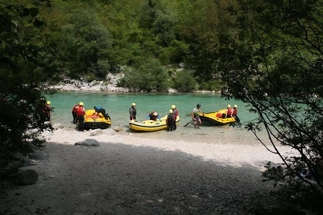 rafting en Eslovenia. Viajar con niños. Ruta en autocaravana | caravaneros.com