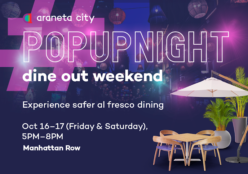 Enjoy al fresco dining at Araneta City's #PopUpNight Dine Out Weekend