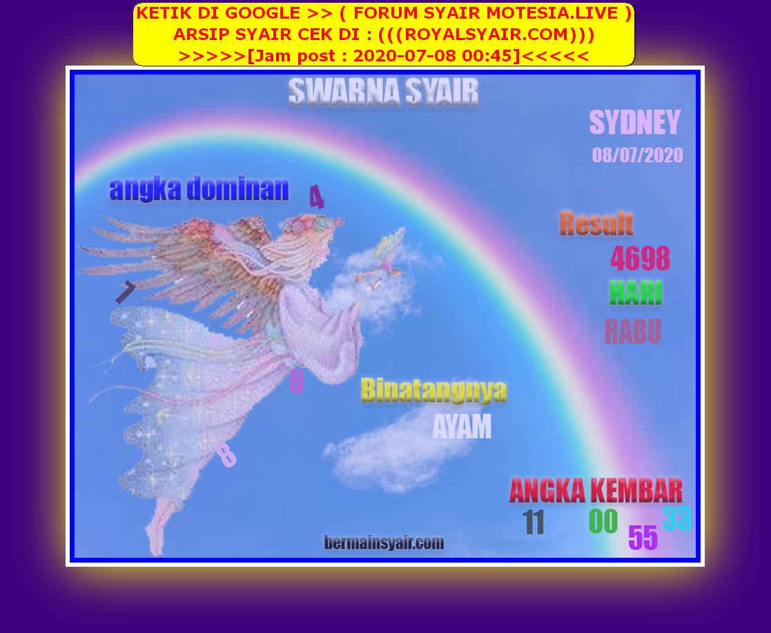 Kode syair Sydney Rabu 8 Juli 2020 217