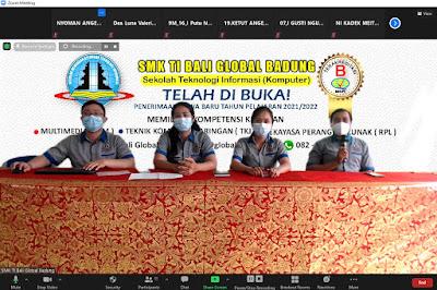 Sosialisasi Daring SMK TI Bali Global Badung Bersama Siswa-siswi Kelas IX SMP Negeri 2 Kuta Utara