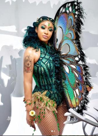 Actress Tonto dikeh shares new Photos of herself rocking her Butterfly wear (Photos)