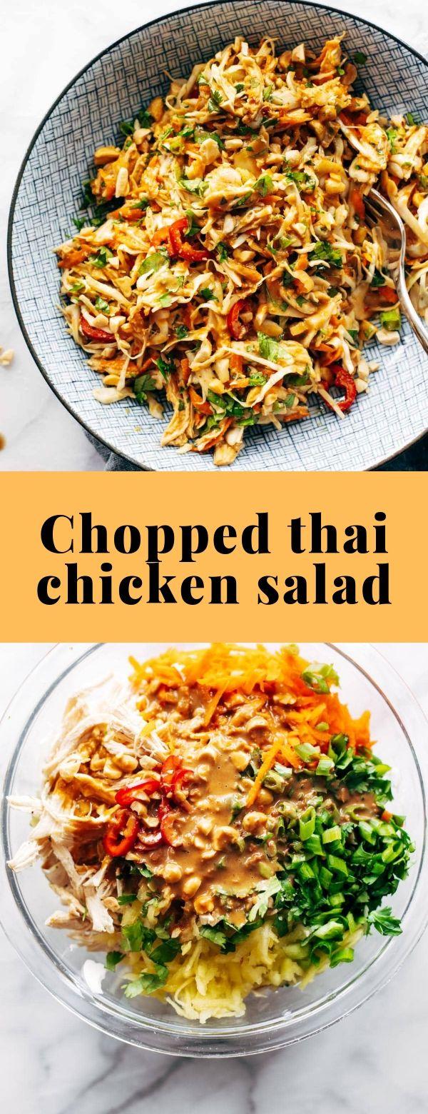 Chopped thai chicken salad #salad