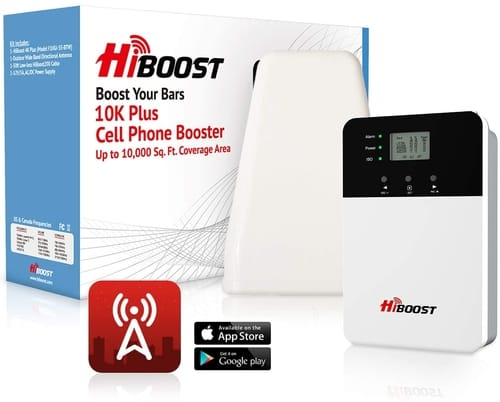 HiBoost 10K Plus Cell Phone Signal Booster Kit for Home