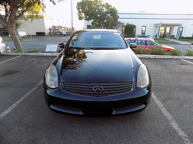 Oxidized Infiniti G35 before complete paint job at Almost Everything Auto Body.