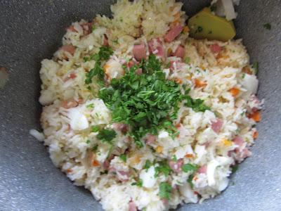 Ensalada de arroz al ajillo Thermomix