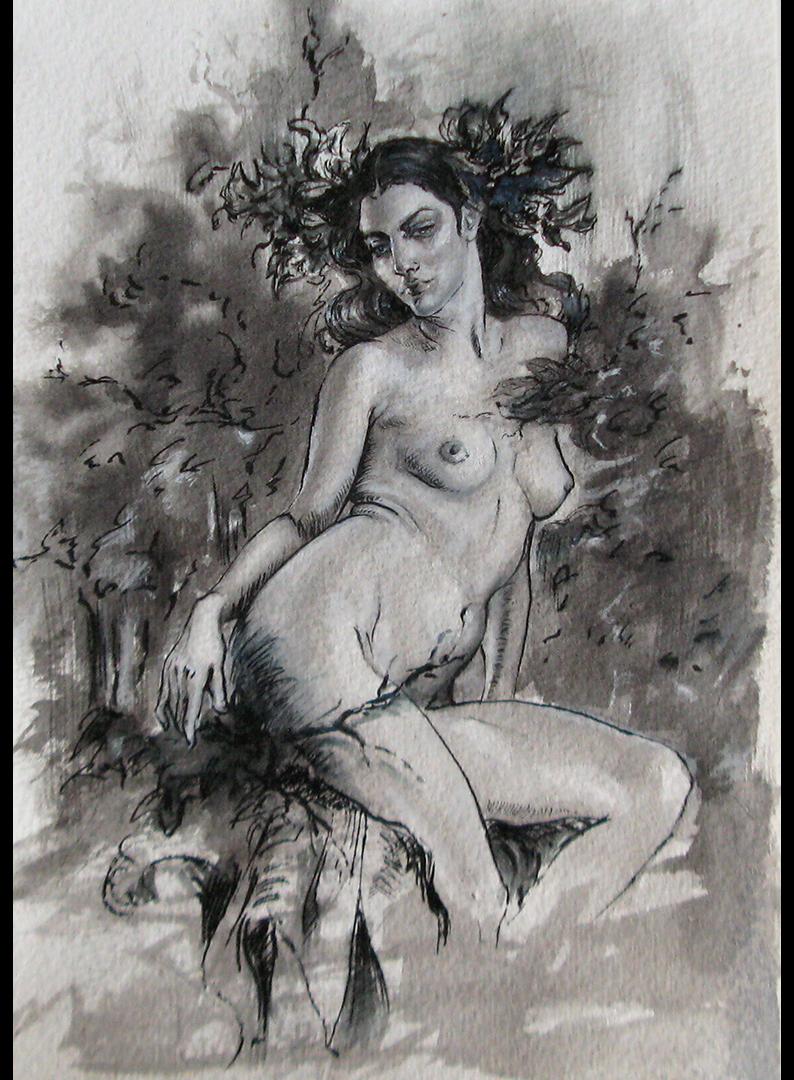 Iva K, ink on paper