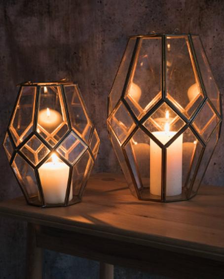 Rose and Grey lanterns