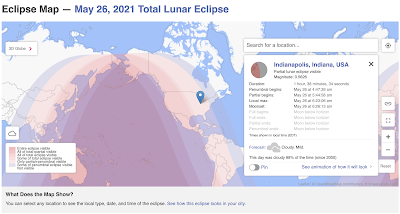 map of lunar eclipse with search function