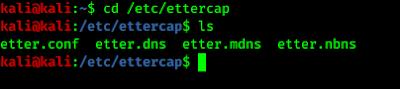 cd /etc/ettercap && ls