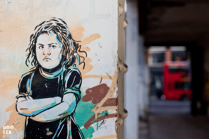 Alice Pasquini - Street Art on Shoreditch High Street, London