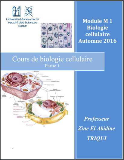 Cours de biologie cellulaire - Zine El Abidine TRIQUI PDF