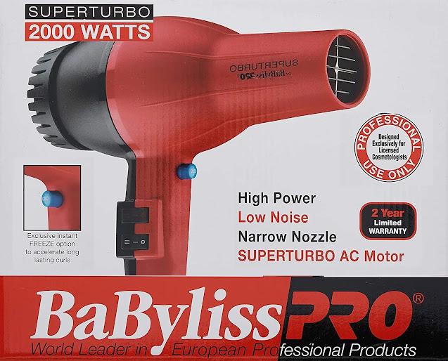 5- Babyliss Pro Turbo Hair Dryer