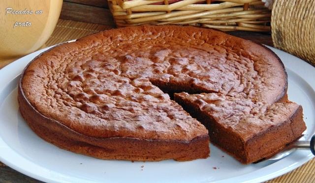 Bolo mousse de chocolate sem açúcar
