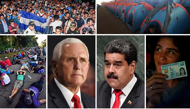 Mike Pence: Honduran President Told Me Venezuela Funding Migrant Caravan