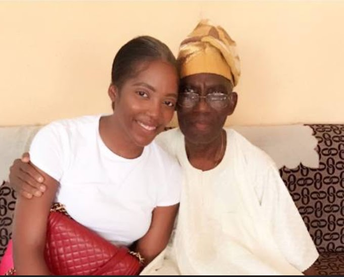 Nigerian Singer, Tiwa Savage Loses Her Father