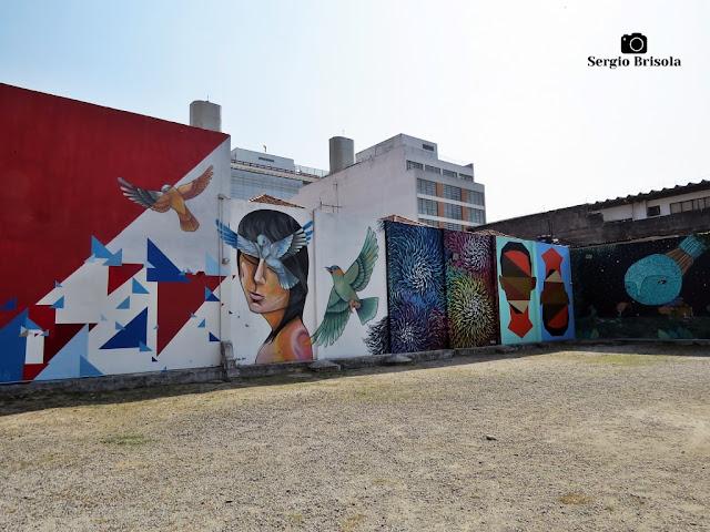 Vista ampla de Grafites no Museu da Energia - Campos Elíseos - São Paulo
