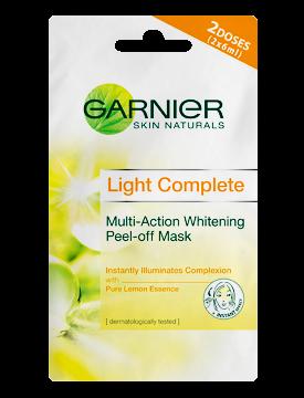 Review Garnier Light Complete Multi-Action Whitening Peel-Off Mask